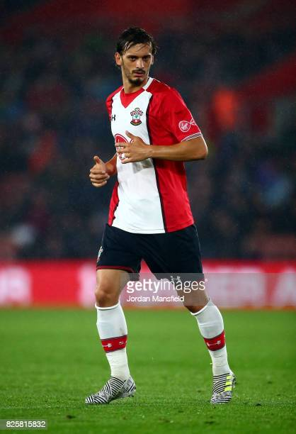 Manolo Gabbiadini of Southampton during the PreSeason Friendly match between Southampton and FC Augsburg at St Mary's Stadium on August 2 2017 in...