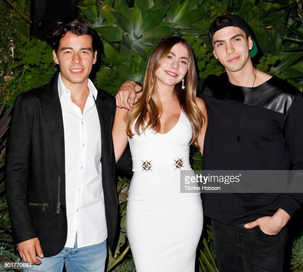Manolo GonzalezRipoll Vergara Claudia Vergara and Johann Vera attend the Raze Launch Party at Smogshoppe on June 26 2017 in Los Angeles California