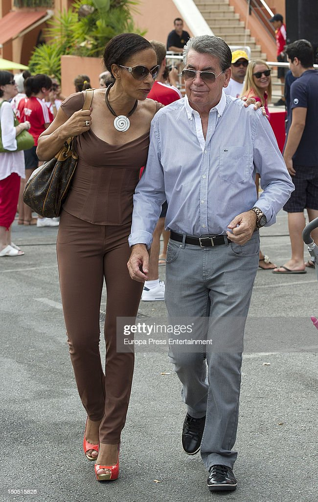Manolo Santana and Claudia attend the Dynamic WalkaThon a charity long walk through the city of Marbella to raise benefits for Cesare Scariolo...