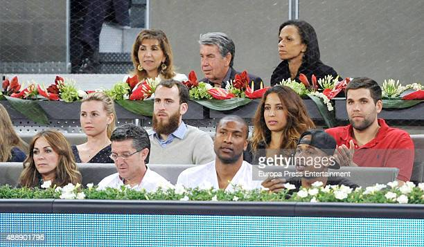 Manolo Santana Claudia Rodriguez Sergio Rodriguez an dFelipe Reyes attend Mutua Madrid Open at La Caja Magica on May 8 2014 in Madrid Spain