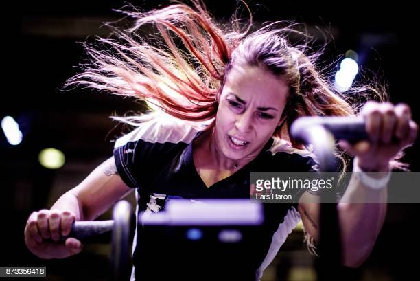 Manon Angonese of CrossFit Castle competes during day two of the German Throwdown 2017 at Halle 45 on November 12 2017 in Mainz Germany