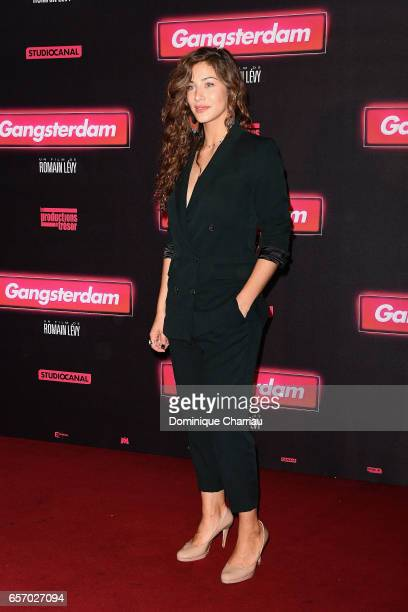Manon Azem attends the Gangsterdam Paris Premiere at Le Grand Rex on March 23 2017 i