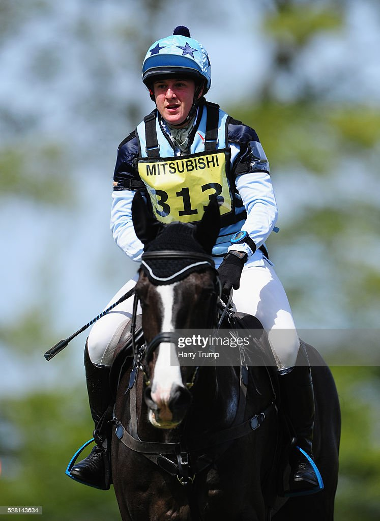 Manor Mayhem ridden by Rachel Harris make their way around the course during the Mitsubishi Motors Cup Cross Country Race during Day One of the Badminton Horse Trials on May 4, 2016 in Badminton, United Kindom.