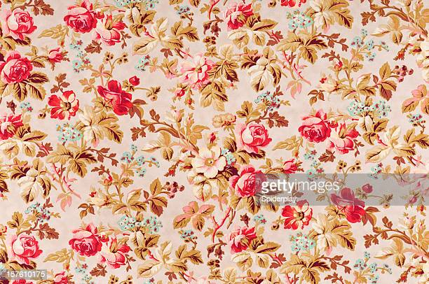 Manor Rose Medium Antique Floral Fabric