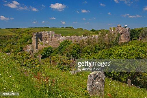 Manorbier Castle, Manorbier, Pembrokeshire, Wales, United Kingdom