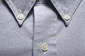 Man's dress shirt, close-up of button-down collar