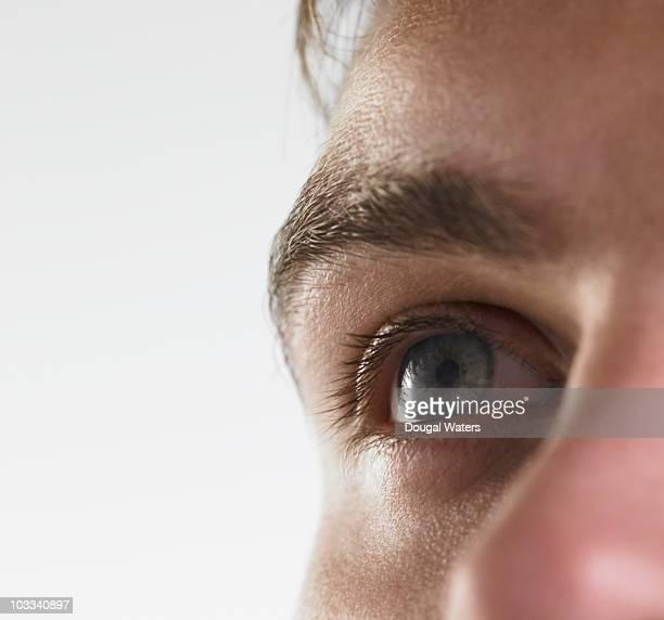 Mans eye close up.