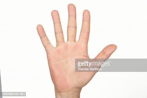 Man's hand (focus on hand)