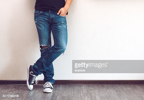 Man's legs : Stock Photo