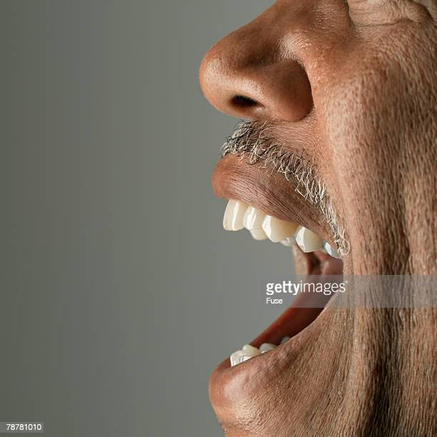 Mans Open Mouth