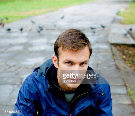man's portrait : Stockfoto