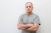 portrait of the elderly serious man