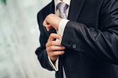 Man's style. dressing suit, shirt and necktie