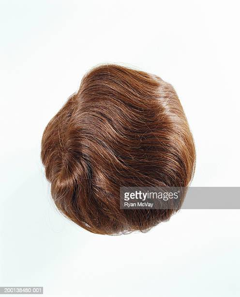 Man's toupee, overhead view