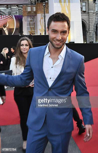 Mans Zelmerloew of Sweden poses during the Opening Ceremony at Rathaus Wien ahead of the Eurovision Song Contest 2015 on May 17 2015 in Vienna Austria