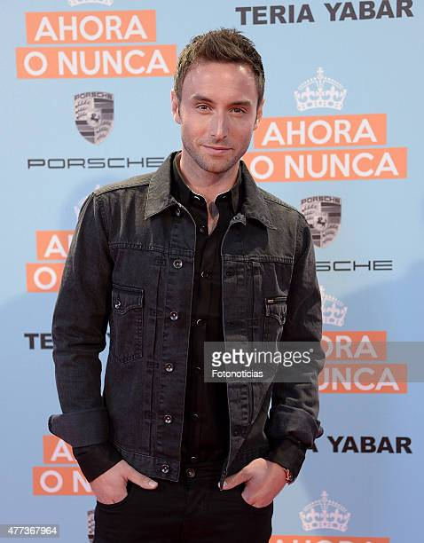 Mans Zelmerlow attends the 'Ahora o Nunca' premiere at Capitol Cinema on June 16 2015 in Madrid Spain