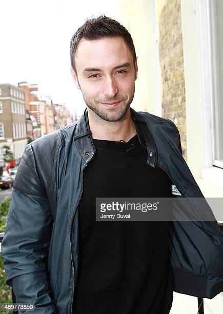 Mans Zelmerlow attends the Eurovision reception hosted by The Amassador of Sweden Ms Nicola Clase at the Swedish Residence on September 24 2015 in...