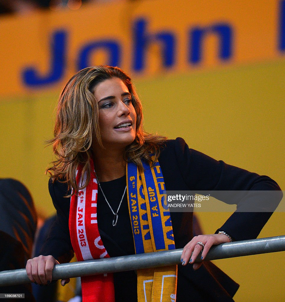 """Mansfied CEO Carolyn Radford looks on before the FA Cup third round football match between Mansfield Town and Liverpool in Mansfield, central England, on January 6, 2013. Liverpool won the match 2-1. USE. No use with unauthorized audio, video, data, fixture lists, club/league logos or """"live"""" services. Online in-match use limited to 45 images, no video emulation. No use in betting, games or single club/league/player publications."""