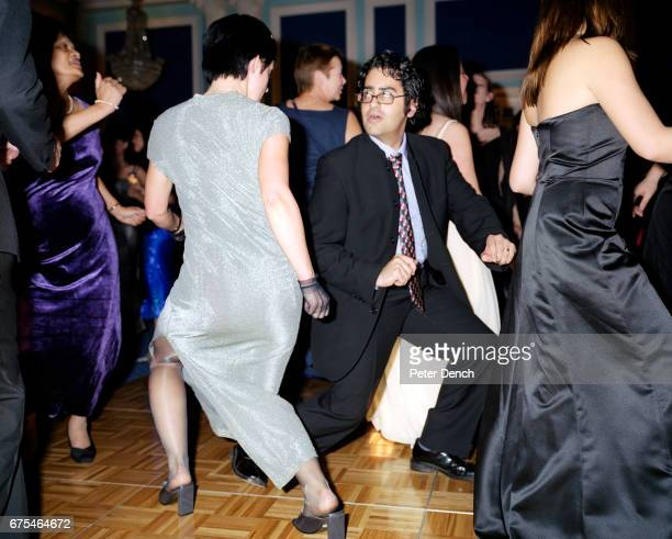 Mansfield Law Society employees dance at a Christmas party at the New Connaught Rooms London November 2002