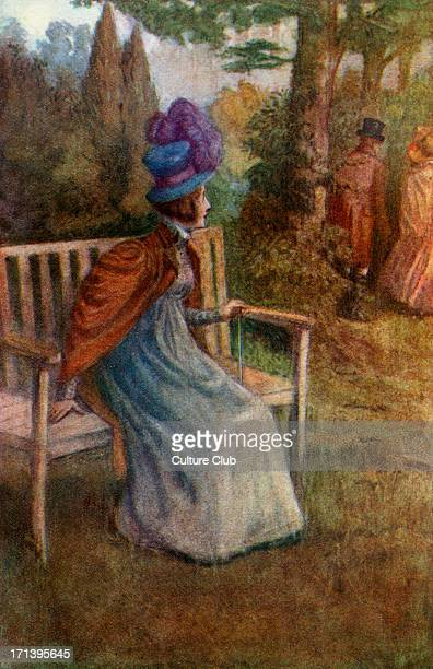 'Mansfield Park' 'Mansfield Park' by Jane Austen First published July 1814 Caption reads 'She watched them till they had turned a corner' 1910 JA...