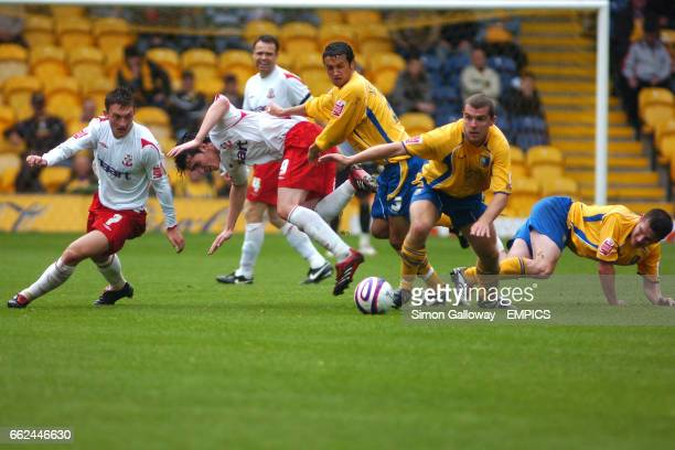 Mansfield Town's Stephen Dawson in action