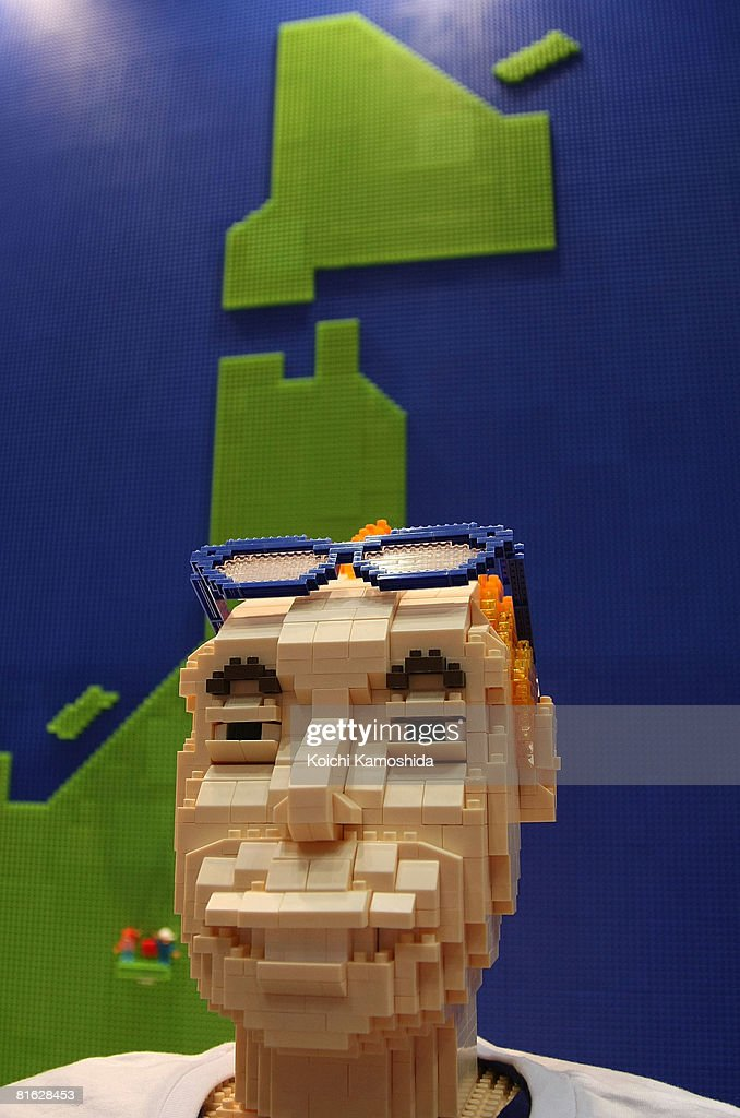 A man-Shaped figure made by 'DiaBlock' of Kawada Co Ltd is displayed during the International Tokyo Toy Show 2008 at Tokyo Big Sight in june 19, 2008 in Tokyo, Japan. The show is held until June 22. 120,000 people are expected to visit the show over the 4 days which has 134 toy manufacturers from both Japan and abroad showing 36,000 products.