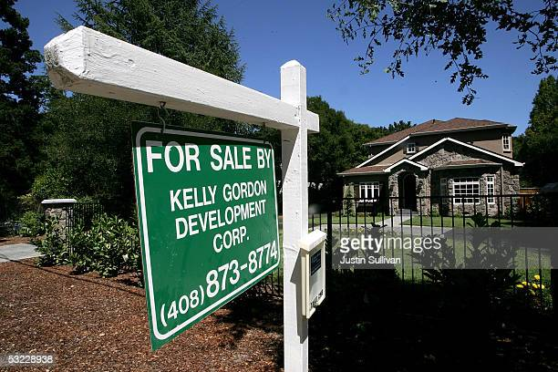 A mansion style home is seen for sale July 12 2005 in Atherton California According to a recent survey by Forbescom Atherton a small town in the...