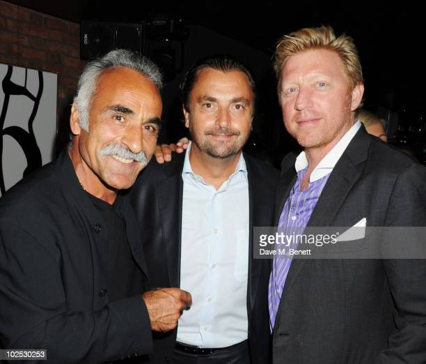 Mansour Bahrami Henri Leconte and Boris Becker attend Boris Becker's birthday party at Mortons on June 29 2010 in London England