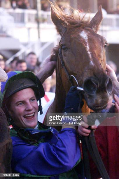 Mantles Prince with jockey Fran Berry after winning the Ladbrokes Hurdle at Leopardstown Dublin