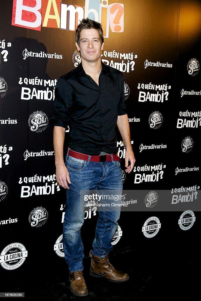 Manu Baqueiro attends 'Quien Mato a Bambi?' premiere at La Cocina Rock Bar on November 12, 2013 in Madrid, Spain.