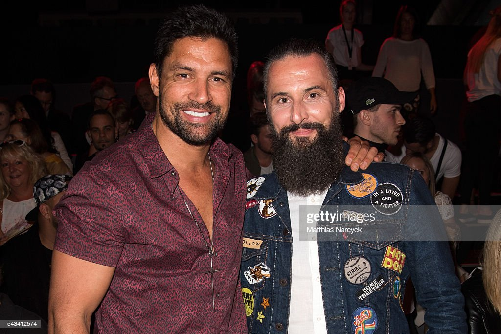 <a gi-track='captionPersonalityLinkClicked' href=/galleries/search?phrase=Manu+Bennett&family=editorial&specificpeople=2223445 ng-click='$event.stopPropagation()'>Manu Bennett</a> (L) and Tobias Bojko attend the Thomas Hanisch show during the Mercedes-Benz Fashion Week Berlin Spring/Summer 2017 at Erika Hess Eisstadion on June 28, 2016 in Berlin, Germany.