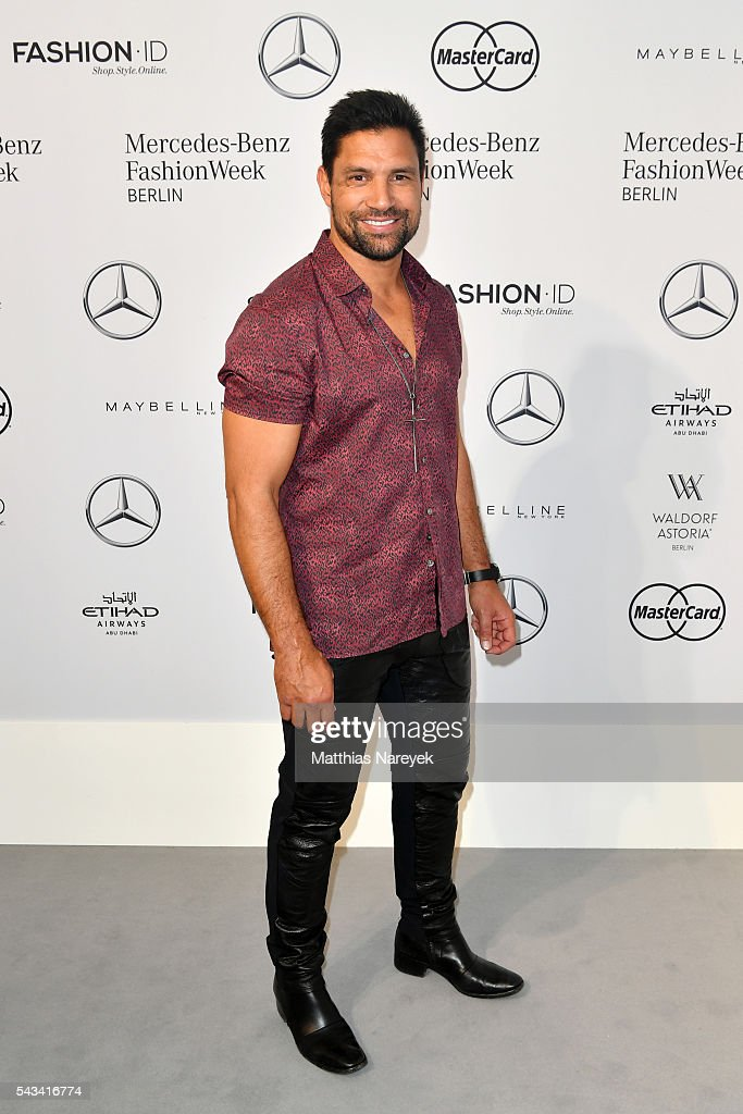 Manu Bennett attends the Thomas Hanisch show during the Mercedes-Benz Fashion Week Berlin Spring/Summer 2017 at Erika Hess Eisstadion on June 28, 2016 in Berlin, Germany.