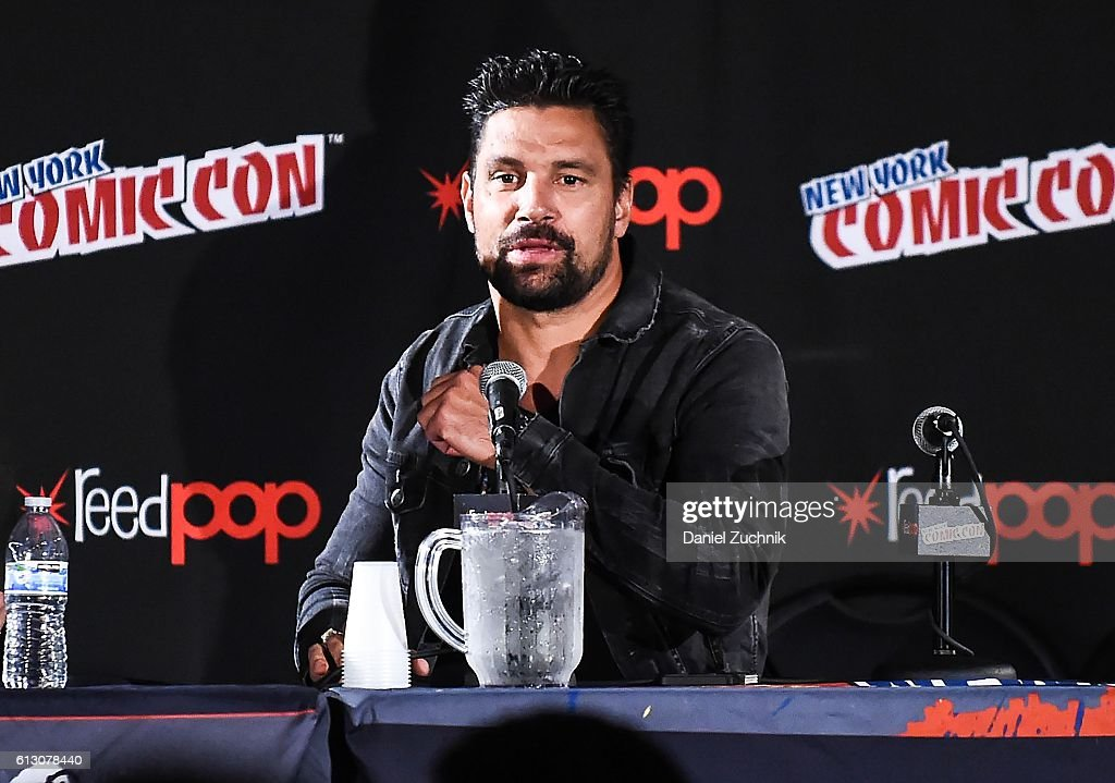 Manu Bennett speaks during the Death Race 2050 panel during 2016 New York Comic Con - Day 1 on October 6, 2016 in New York City.
