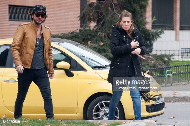 Manu Carrasco and Almudena Navalon are seen on January 12 2017 in Madrid Spain