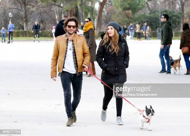 Manu Carrasco and Almudena Navalon are seen on January 15 2017 in Madrid Spain
