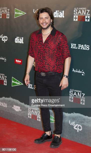 Manu Carrasco attends Alejandro Sanz's concert 'Mas' at Vicente Calderon stadium on June 24 2017 in Madrid Spain