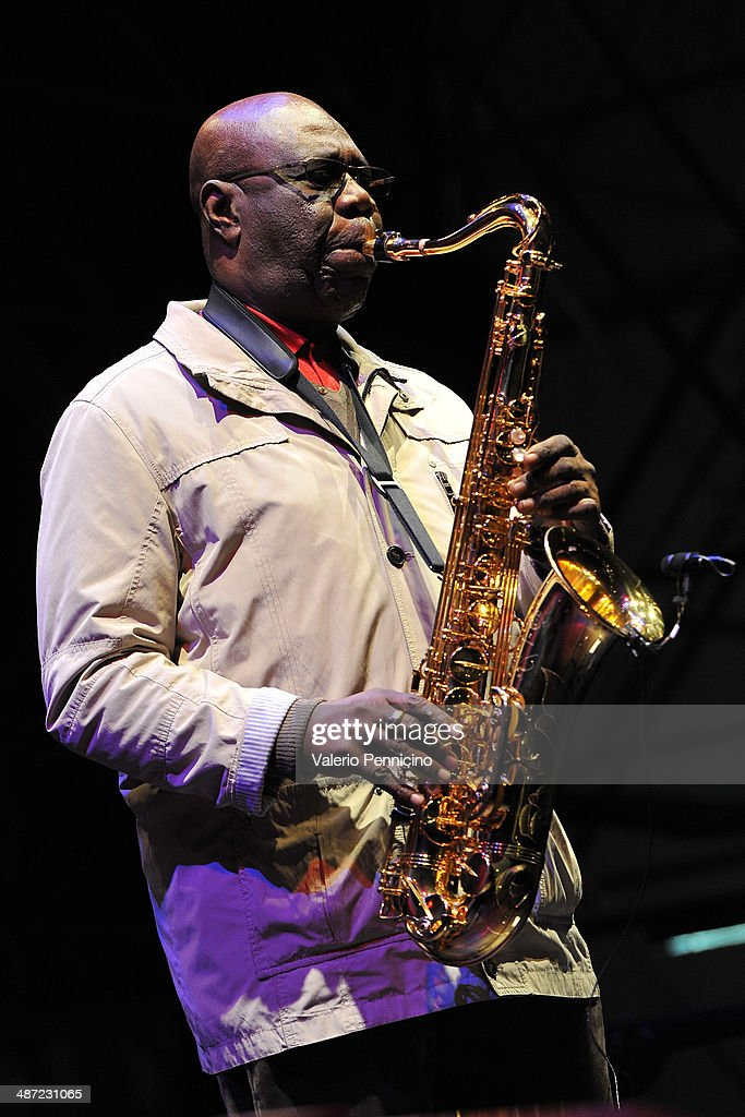 <a gi-track='captionPersonalityLinkClicked' href=/galleries/search?phrase=Manu+Dibango&family=editorial&specificpeople=768914 ng-click='$event.stopPropagation()'>Manu Dibango</a> performs during Torino Jazz Festival at Piazza Castello April 28, 2014 in Turin, Italy.