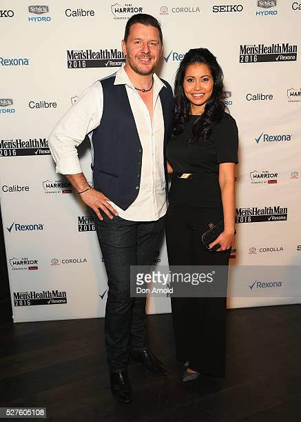 Manu Feildel and fiance Clarissa Weerasena attend the Men's Health MAN 2016 Awards on May 3 2016 in Sydney Australia