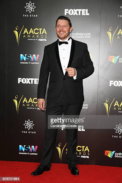 Manu Feildel arrives ahead of the 6th AACTA Awards Presented by Foxtel at The Star on December 7 2016 in Sydney Australia