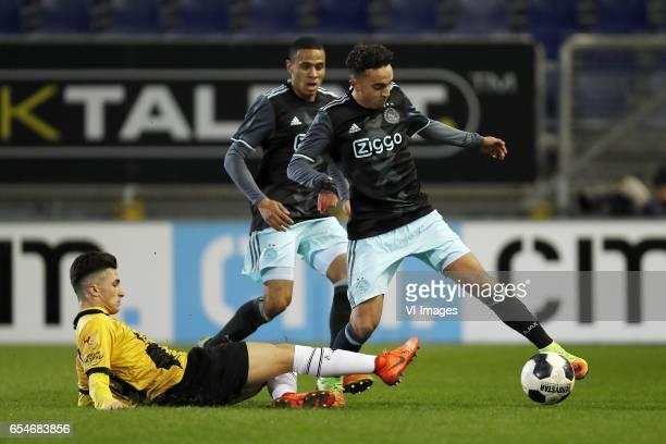 Manu Garcia of NAC Breda Damil Dankerlui of Jong Ajax Abdelhak Nouri of Jong Ajaxduring the Jupiler League match between NAC Breda and Jong Ajax...