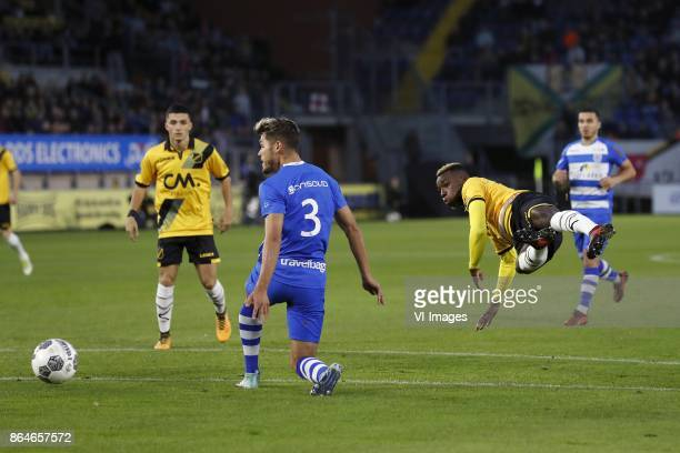 Manu Garcia of NAC Breda Nicolas Freire of PEC Zwolle Thierry Ambrose of NAC Breda during the Dutch Eredivisie match between NAC Breda and PEC Zwolle...