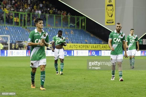 Manu Garcia of NAC Breda Thomas Agyepong of NAC Breda James Horsfield of NAC Breda Menno Koch of NAC Breda during the Dutch Eredivisie match between...