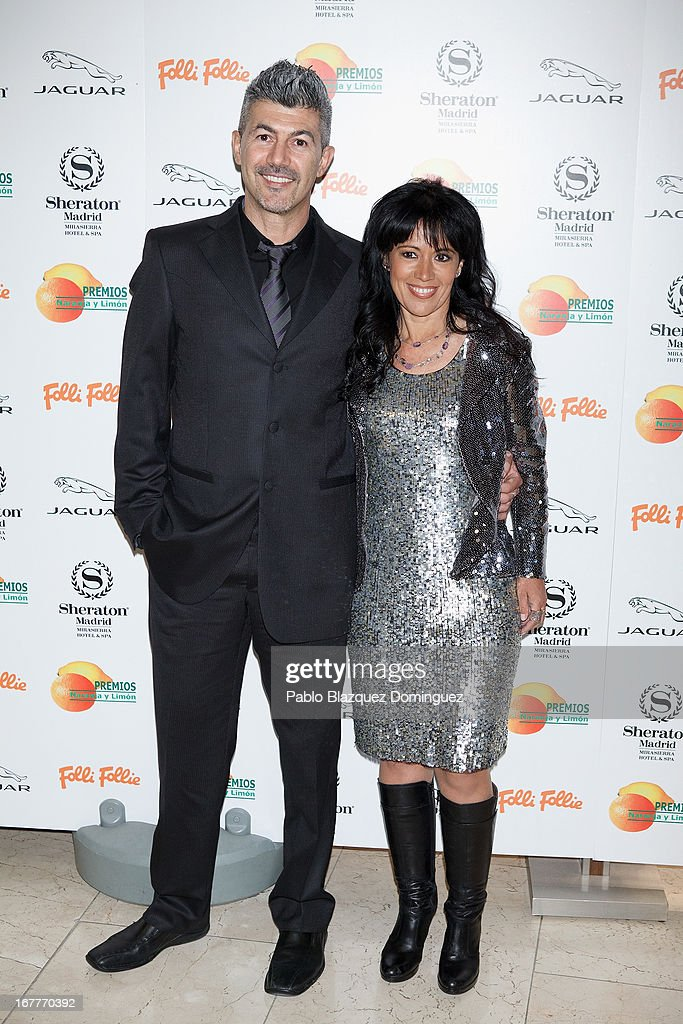 Manu Garzon and Cristina del Valle attend 'Orange And Lemon' Awards ceremony at Sheraton Mirasierra Hotel on April 29, 2013 in Madrid, Spain.