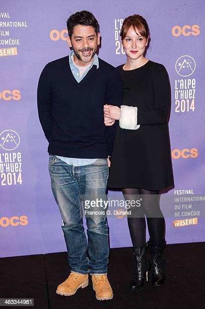 Manu Payet and Anais Demoustier attend the 'Situation Amoureuse C'est complique' Premiere as part of the 17th L'Alpe D'Huez International Comedy Film...
