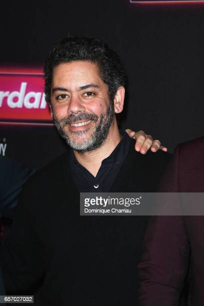 Manu Payet attends the Gangsterdam Paris Premiere at Le Grand Rex on March 23 2017 i