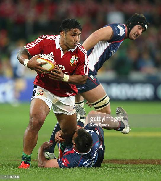 Leicester Centre Manu Tuilagi Is Tackled: Manu Tuilagi Stock Photos And Pictures