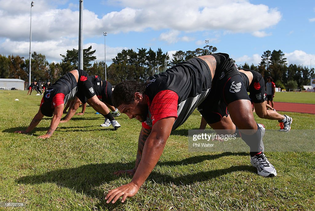 Warriors NRL Training Session
