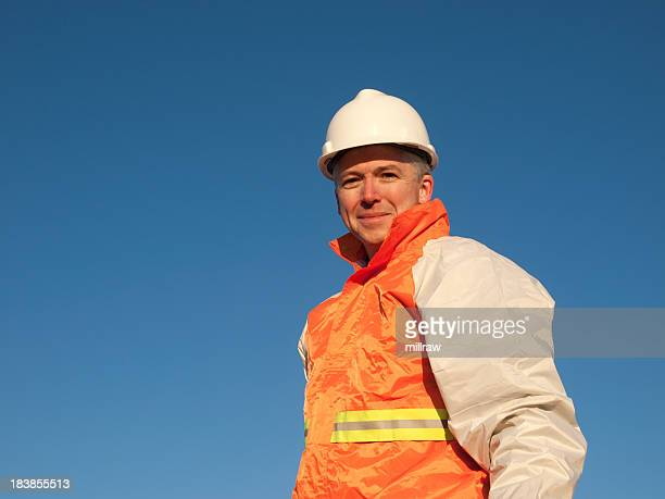 Manual Safety Construction Worker Smiling