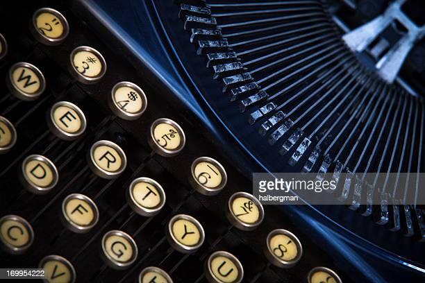 Manual Typewriter Close-Up