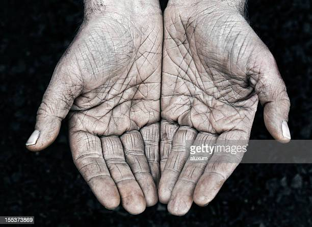 Manual worker hands